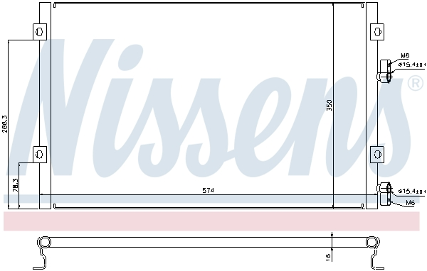 Kondenzátor klimatizace NISSENS 940289