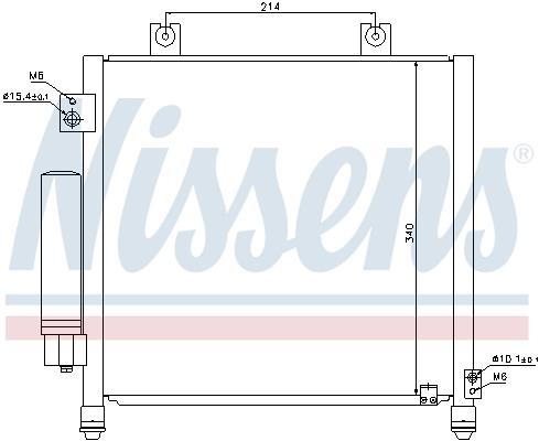 Kondenzátor klimatizace NISSENS 940302