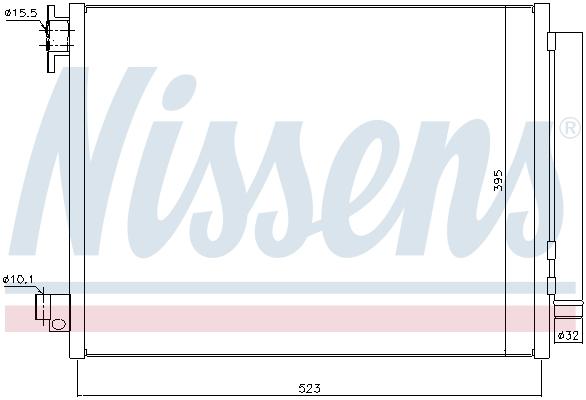 Kondenzátor klimatizace NISSENS 940321