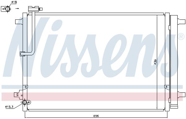 Kondenzátor klimatizace NISSENS 940329
