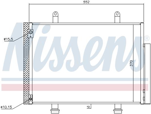 Kondenzátor klimatizace NISSENS 940356