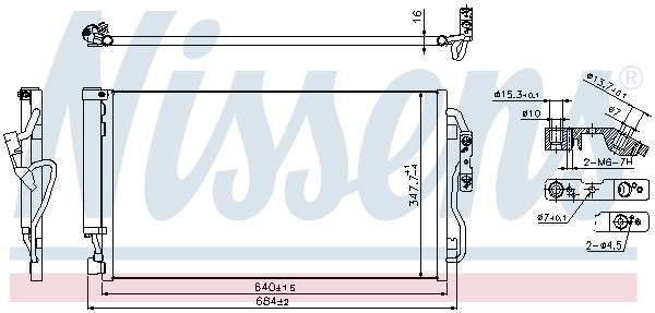 Kondenzátor klimatizace NISSENS 940357
