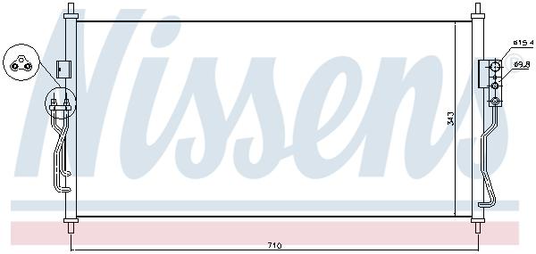 Kondenzátor klimatizace NISSENS 940363