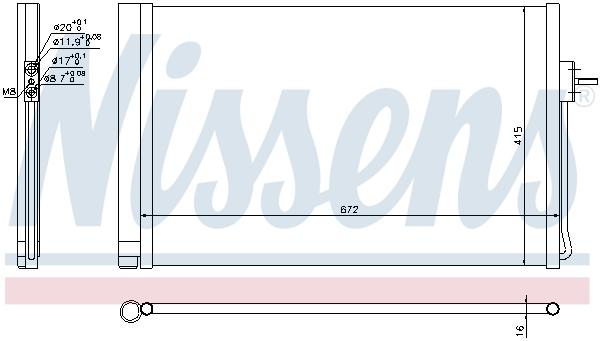 Kondenzátor klimatizace NISSENS 940364