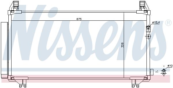 Kondenzátor klimatizace NISSENS 940369