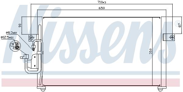 Kondenzátor klimatizace NISSENS 94037
