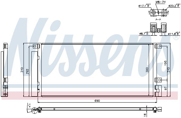 Kondenzátor klimatizace NISSENS 940388