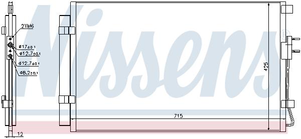 Kondenzátor klimatizace NISSENS 940392