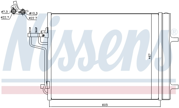 Kondenzátor klimatizace NISSENS 940398