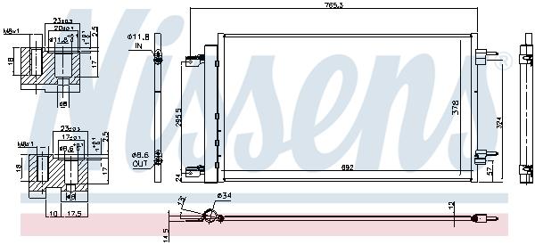 Kondenzátor klimatizace NISSENS 940735