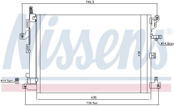Kondenzátor klimatizace NISSENS 940830