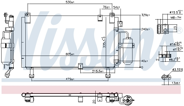 Kondenzátor klimatizace NISSENS 941153