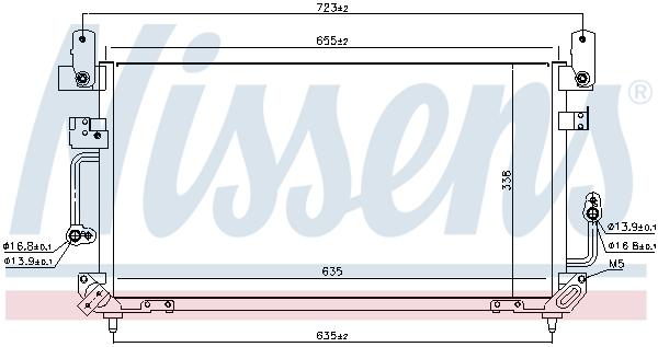 Kondenzátor klimatizace NISSENS 94187