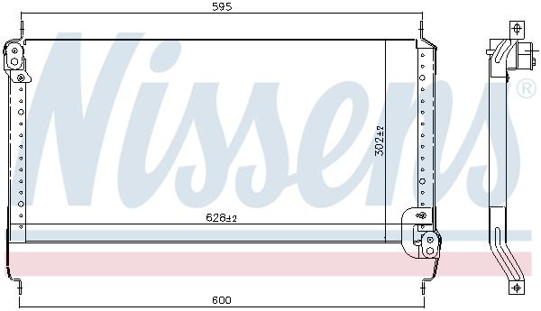 Kondenzátor klimatizace NISSENS 94195