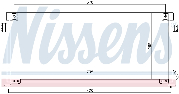 Kondenzátor klimatizace NISSENS 94507