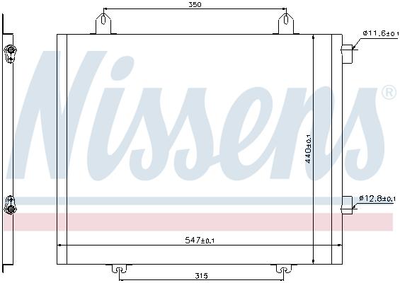 Kondenzátor klimatizace NISSENS 94573