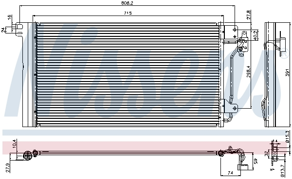 Kondenzátor klimatizace NISSENS 94604