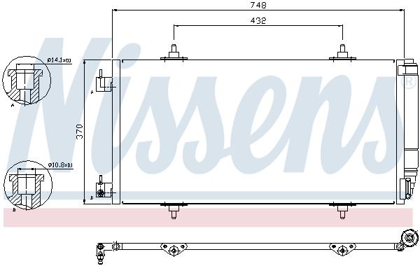 Kondenzátor klimatizace NISSENS 94629