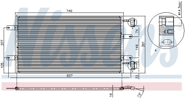 Kondenzátor klimatizace NISSENS 94678