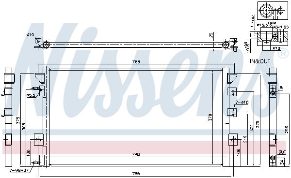 Kondenzátor klimatizace NISSENS 94680