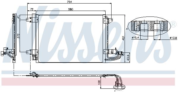 Kondenzátor klimatizace NISSENS 94684