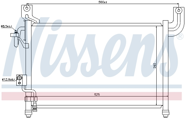 Kondenzátor klimatizace NISSENS 94729