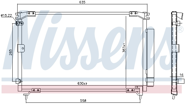 Kondenzátor klimatizace NISSENS 94769