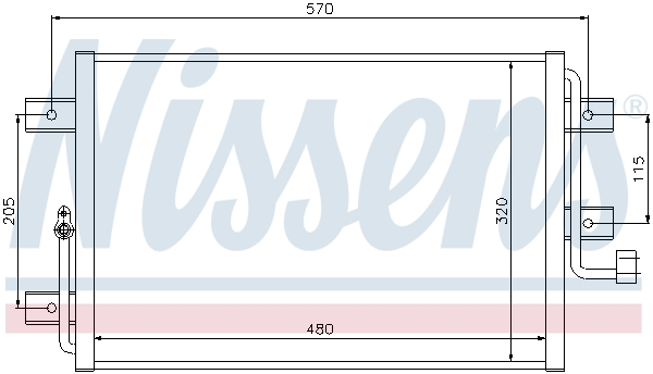 Kondenzátor klimatizace NISSENS 94825