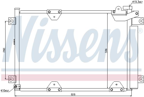 Kondenzátor klimatizace NISSENS 94892
