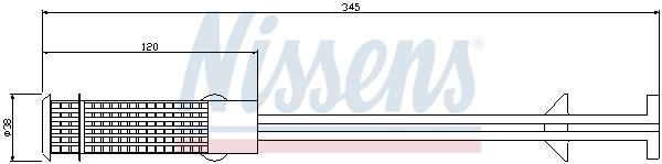 Sušič klimatizace NISSENS 95407