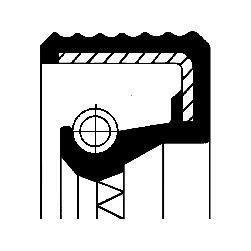 Těsnící kroužek hřídele u náboje kola CORTECO 01033114B
