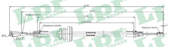 Lanko ruční brzdy LPR C0755B