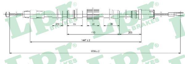 Lanko ruční brzdy LPR C1654B
