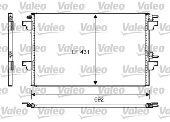 Kondenzátor klimatizace VALEO 814007