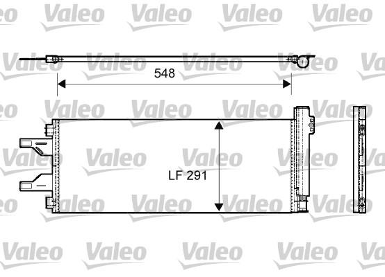 Kondenzátor klimatizace VALEO 814069