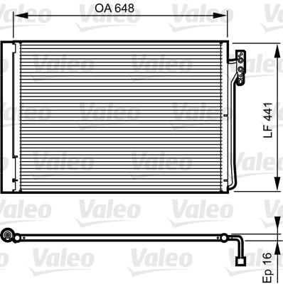 Kondenzátor klimatizace VALEO 814165