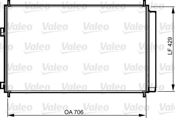 Kondenzátor klimatizace VALEO 814204