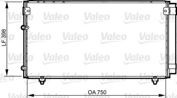 Kondenzátor klimatizace VALEO 814207