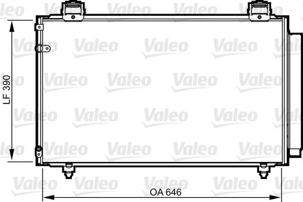 Kondenzátor klimatizace VALEO 814208