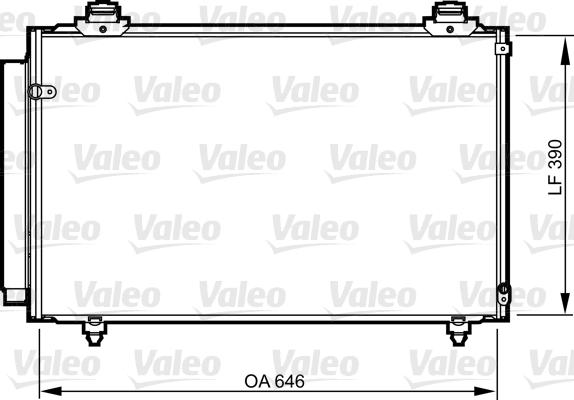 Kondenzátor klimatizace VALEO 814212