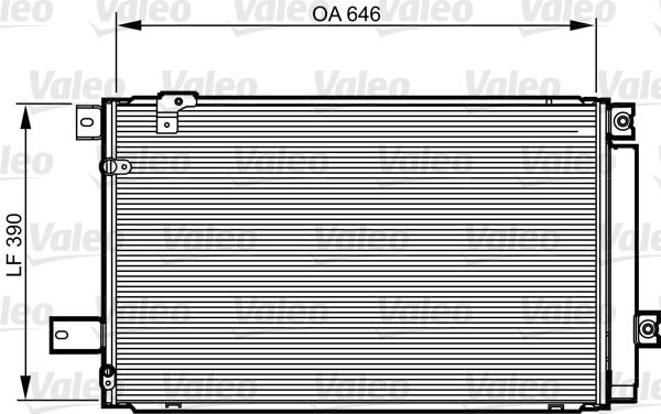 Kondenzátor klimatizace VALEO 814213