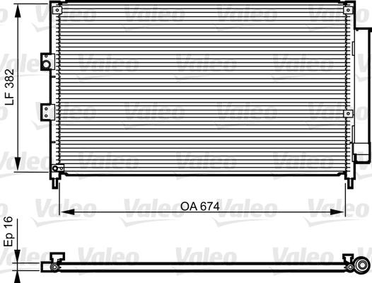 Kondenzátor klimatizace VALEO 814217