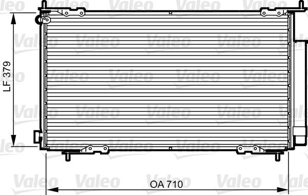 Kondenzátor klimatizace VALEO 814225