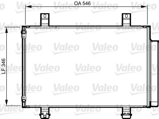 Kondenzátor klimatizace VALEO 814237