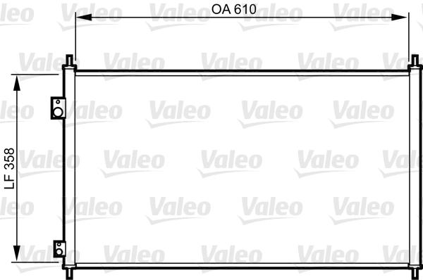 Kondenzátor klimatizace VALEO 814243
