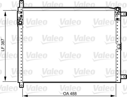 Kondenzátor klimatizace VALEO 814293