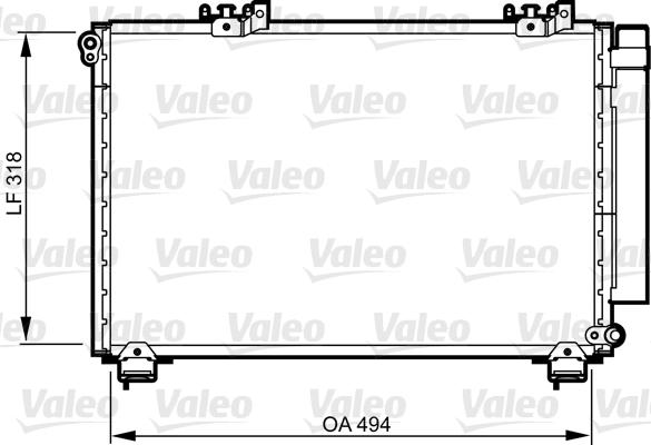 Kondenzátor klimatizace VALEO 814309