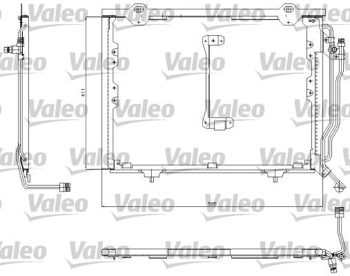 Kondenzátor klimatizace VALEO 817492