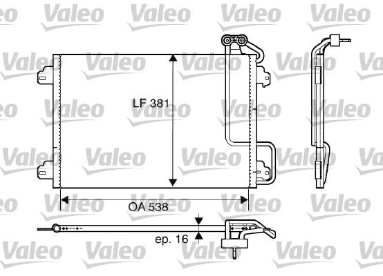 Kondenzátor klimatizace VALEO 817509
