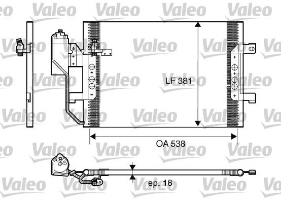 Kondenzátor klimatizace VALEO 817659